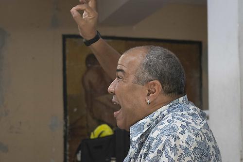 Rubén Darío Salazar, director de teatro cubano. Foto, Canek Denis