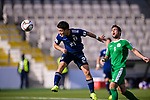 Doan Ritsu of Japan (L) in action during the AFC Asian Cup UAE 2019 Group F match between Japan (JPN) and Turkmenistan (TKM) at Al Nahyan Stadium on 09 January 2019 in Abu Dhabi, United Arab Emirates. Photo by Marcio Rodrigo Machado / Power Sport Images