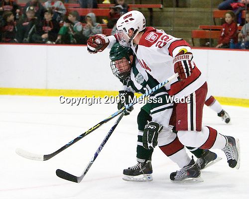 Nick Walsh (Dartmouth - 21), David Valek (Harvard - 22) - The Harvard University Crimson defeated the Dartmouth College Big Green 4-1 (EN) on Monday, January 18, 2010, at Bright Hockey Center in Cambridge, Massachusetts.