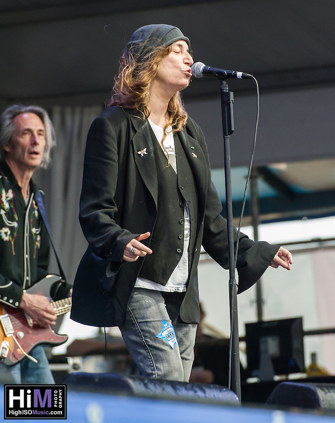 Patti Smith performs at the 2013 Jazz and Heritage Festival in New Orleans, LA on May 2, 2013.  © HIGH ISO Music, LLC / Retna, Ltd.