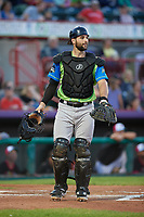 Las Ardillas Voladoras de Richmond catcher Matt Winn (15) during an Eastern League game against the Erie Piñatas on August 28, 2019 at UPMC Park in Erie, Pennsylvania.  Richmond defeated Erie 4-3 in the second game of a doubleheader.  (Mike Janes/Four Seam Images)