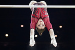 Gymnastics World Cup  23.3.19. World Resorts Arena. Birmingham UK. Aliya Mustafina (RUS) in action