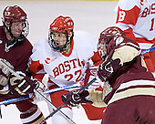 Tim Filangieri, Jason Lawrence, Mike Brennan - The Boston College Eagles defeated the Boston University Terriers 5-0 on Saturday, March 25, 2006, in the Northeast Regional Final at the DCU Center in Worcester, MA.