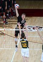 Stanford, CA; Saturday January 5, 2013: Men's Volleyball, Stanford vs George Mason.