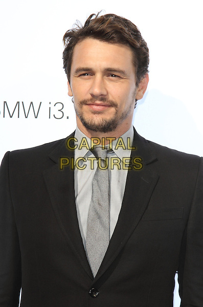 James Franco<br /> BMW i3 Global Reveal &amp; Party, Old Billingsgate, Old Billingsgate Walk, London, England.<br /> 29th July 2013<br /> half length black suit jacket grey gray tie headshot portrait shirt goatee beard facial hair<br /> CAP/ROS<br /> &copy;Steve Ross/Capital Pictures