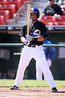 April 19, 2010:  Outfielder Fernando Martinez of the Buffalo Bisons at bat during a game at Coca-Cola Field in Buffalo, New York.  The Bisons are the Triple-A International League affiliate of the New York Mets.  Photo By Mike Janes/Four Seam Images
