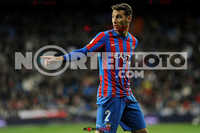 Levante UD´s Ivan Lopez during 2014-15 La Liga match between Real Madrid and Levante UD at Santiago Bernabeu stadium in Madrid, Spain. March 15, 2015. (ALTERPHOTOS/Luis Fernandez) /NORTEphoto.com