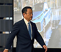 May 8, 2015, Tokyo, Japan - Akio Toyoda, president of Japan's Toyota Motor Corp., arrives for a news conference at its head office in Tokyo on Friday, May 8, 2015. The world's top-selling automaker forecasts operating profit will edge up 1.8 percent this year to 2.80 trillion yen.  (Photo by Natsuki Sakai/AFLO)