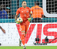 MIAMI GARDENS - ESTADOS UNIDOS, 15-11-2019: David Ospina arquero de Colombia en acción durante partido amistoso amistoso entre Colombia y Perú jugado en el Hard Rock Stadium en Miami Gardens, Estados Unidos. / David Ospina, goalkeeper of Colombia, in action during a friendly match between Colombia and Peru played at Hard Rock Stadium in Miami Gardens, Estados Unidos. Photo: VizzorImage / FCF / Cont