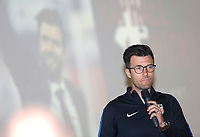 Oceanside, CA-Wednesday, June 19, 2019: US Soccer Coaches Ed Event at QLN conference center.  Raphael Wicky, prepares to give his presentation.