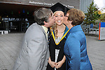 23/10/2015  Pictured at the recent Mary Immaculate College conferring ceremonies were Nicola Power, Tramore, Co. Waterford who graduated with a BA in Early Childhood Studies with parents Nicholas and Bernie Power. 625 students from 20 counties and 3 continents were conferred with academic awards across the College&rsquo;s 27 programmes including the College&rsquo;s 100th PhD award.<br /> Pic: Gareth Williams / Press 22<br /> <br /> Press Release: 23rd October 2015Education is a movement of formation that enables the individual to play their role in transforming society for the common good.100th PhD Graduate Conferred at Mary Immaculate CollegeEducation is a movement of formation that enables the individual to play their role in transforming society for the common good according to Prof. Michael A Hayes, President of Mary Immaculate College, who was speaking at the College&rsquo;s conferring ceremonies today Friday 23rd October. The quality of advanced scholarship at Mary Immaculate College was evident on the day as the 100th PhD graduate was conferred along with close on 650 students from 20 counties and 3 continents all of whom graduated with academic awards across the College&rsquo;s 27 programmes. Congratulating all those graduating the President said &ldquo;These ceremonies mark the high point of the College&rsquo;s year as we acknowledge the achievement of our students. The ceremonies this year are particularly special as we mark the conferring of our 100th PhD Graduate &ndash; this is a very proud achievement for us as a College and I want to congratulate those who have received these doctorates and my colleagues who supervised their work&rdquo;. Not only were students conferred with awards on undergraduate, diploma, graduate diploma and master programmes but this year marked the first graduation of students from the Certificate in General Learning &amp; Personal Development, a programme  for people with intellectual disabilities.&ldquo;Working with students with intellectual disabilities and offering them a third le