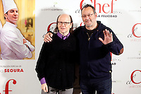 French actor Jean Reno and Spanish actor Santiago Segura attends 'El Chef, la receta de la felicidad' ('Comme un chef') photocall at Intercontinental Hotel in Madrid Spain. November 26, 2012. (ALTERPHOTOS/Caro Marin) /NortePhoto