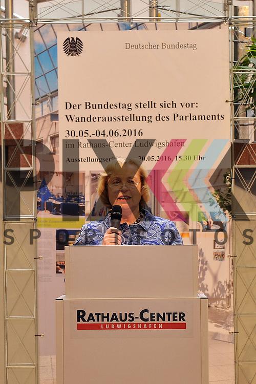 Ludwigshafen am Rhein 30.05.16 Prof. Dr. Maria Boehmer (Bundestag)bei der Eroeffnung der Ausstellung des Bundestag.<br /> <br /> Foto &copy; Ruffler *** Foto ist honorarpflichtig! *** Auf Anfrage in hoeherer Qualitaet/Aufloesung. Belegexemplar erbeten. Veroeffentlichung ausschliesslich fuer journalistisch-publizistische Zwecke. For editorial use only. (Bild ist honorarpflichtig - No Model Release!)