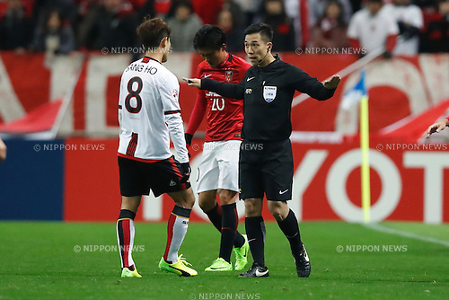 Referee, FEBRUARY 28, 2017 - Football / Soccer : 2017 AFC Champions League Group F match between Urawa Reds 5-2 FC Seoul <br /> at Saitama Stadium 2002, Saitama, Japan. <br /> (Photo by Sho Tamura/AFLO SPORT)