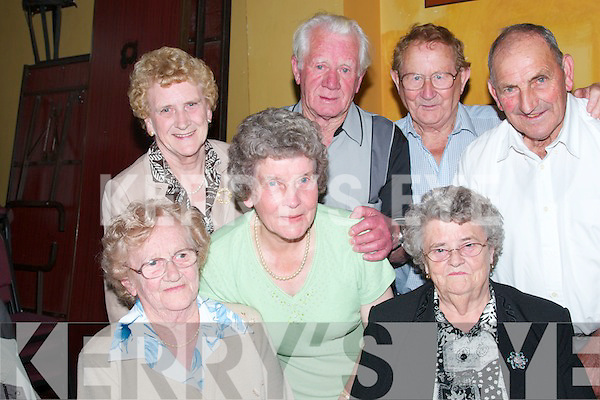 OUTING: Enjoying the Moyvane Senior Citizens annual outing at The Gables Restaurant in Athea on Sunday front left: Dora Ahern, Bridie Gorman. Back from left: Kitty Curtin, Mary OConnor, Joe O Connor, Pat Doody, Tom McCarthy..