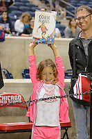 Chicago, IL - Saturday Sept. 24, 2016: Chicago Red Stars fan after a regular season National Women's Soccer League (NWSL) match between the Chicago Red Stars and the Washington Spirit at Toyota Park.