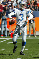 Joey Harrington  In a NFL game played at Invesco Field where the Denver Broncos defeated the Detroit Lions 20-16