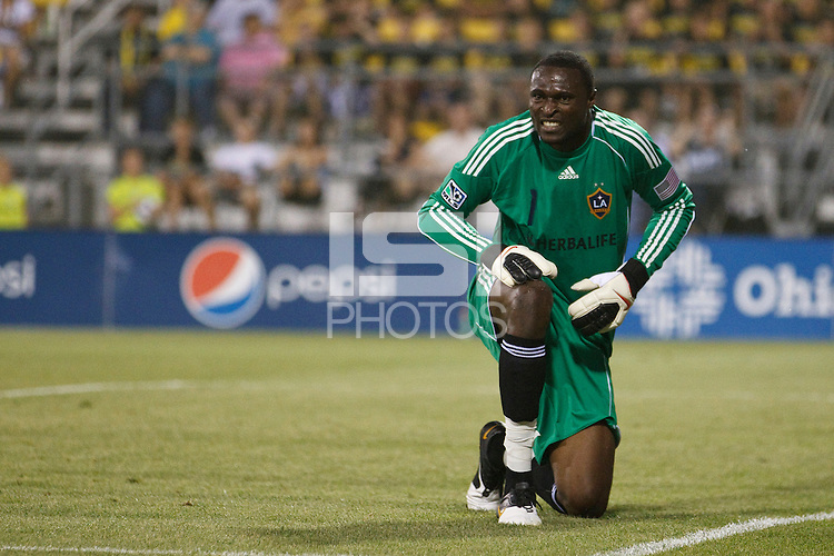 29 MAY 2010:  Galaxy's #1 Donovan Ricketts during MLS soccer game between LA Galaxy vs Columbus Crew at Crew Stadium in Columbus, Ohio on May 29, 2010. Galaxy defeated the Crew 2-0.