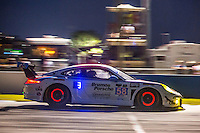 Night  practice, #58 Porsche,  Jan Heylen, Milo Valverde, Madison Snow 12 Hours of Sebring, Sebring International Raceway, Sebring, FL, March 2015.  (Photo by Brian Cleary/ www.bcpix.com )