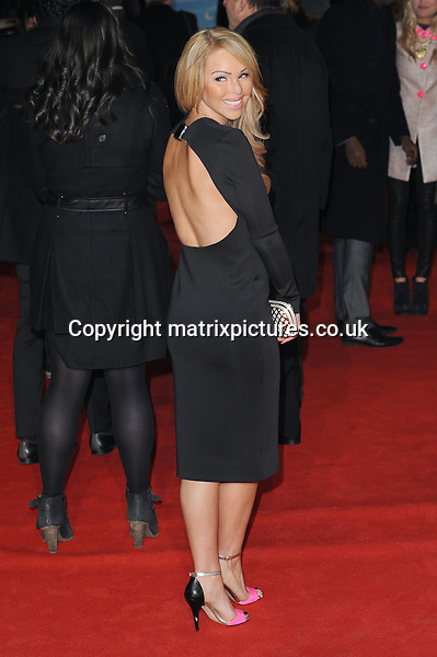NON EXCLUSIVE PICTURE: PAUL TREADWAY / MATRIXPICTURES.CO.UK.PLEASE CREDIT ALL USES..WORLD RIGHTS..Former model Katie Piper attending the UK film premiere of Flight, at Empire Leicester Square, London...JANUARY 17th 2013..REF: PTY 13311