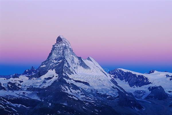 Matterhorn at dawn, Zermatt, Swiss Alps, Switzerland