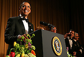 United States President Barack Obama speaks at the annual White House Correspondent's Association Gala at the Washington Hilton Hotel, Washington, DC, Saturday, April 30, 2011..Credit: Martin Simon / Pool via CNP