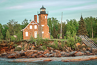 Sand Island Lighthouse  on the Apostle Islands National Lakeshore near Bayfield Wisconsin.