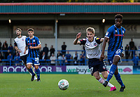 Bolton Wanderers' Ronan Darcy (2nd right) challenging Rochdale's Tyler Magloire  <br /> <br /> Photographer Andrew Kearns/CameraSport<br /> <br /> The Carabao Cup First Round - Rochdale v Bolton Wanderers - Tuesday 13th August 2019 - Spotland Stadium - Rochdale<br />  <br /> World Copyright © 2019 CameraSport. All rights reserved. 43 Linden Ave. Countesthorpe. Leicester. England. LE8 5PG - Tel: +44 (0) 116 277 4147 - admin@camerasport.com - www.camerasport.com