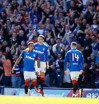 12.05.2019 Rangers v Celtic: James Tavernier celebrates his early goal for Rangers