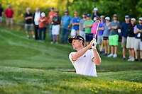 Justin Rose (GBR) watches his bunker shot on 10 during round 2 of the Shell Houston Open, Golf Club of Houston, Houston, Texas, USA. 3/31/2017.<br /> Picture: Golffile | Ken Murray<br /> <br /> <br /> All photo usage must carry mandatory copyright credit (&copy; Golffile | Ken Murray)