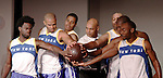 Cast: Ade Otukoya, Jeantique Oriol, Melvin Huffnagle, Layon Gray, Thaddeus Daniels, Lamar Cheston star in Layon Gray's Kings of Harlem - a story about the Harlem Rens who were one of the dominant basketball teams of the 1920's and 1930's - had a special show on September 15, 2015 at St. Luke's Theatre, New York City, New York. The play stars Melvin Huffnagle, Thaddeus Daniels, Ade Otukoya, Lamar Cheston, Delano Barbosa, Jeantique Oriol and Layon Gray.  (Photo by Sue Coflin/Max Photos)