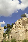 Israel, Upper Galilee, ruins of the fortress in Safed