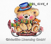 CHRISTMAS ANIMALS, WEIHNACHTEN TIERE, NAVIDAD ANIMALES, paintings+++++,KL6146/4,#xa#