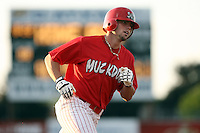 August 3rd 2008:  Chris Swauger of the Batavia Muckdogs, Class-A affiliate of the St. Louis Cardinals, during a game at Dwyer Stadium in Batavia, NY.  Photo by:  Mike Janes/Four Seam Images