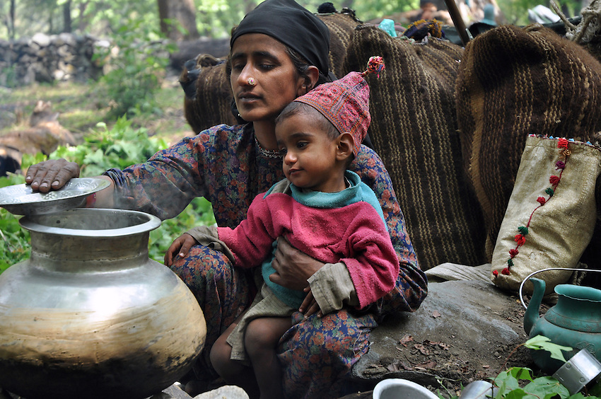 Jamila cooks lunch at an overnight camp in the Himalayan foothills.