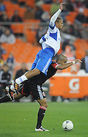 D.C. United forward Santos Maicon (29) gets fouled by Montreal Impact defender Matteo Ferrari (13) D.C. United tied The Montreal Impact 1-1, at RFK Stadium, Wednesday April 18 , 2012.