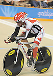 November 15 2011 - Guadalajara, Mexico:  Eric Bourgault competing in the Men's C1-C5 1k in the Panamerican Velodrome at the 2011 Parapan American Games in Guadalajara, Mexico.  Photos: Matthew Murnaghan/Canadian Paralympic Committee