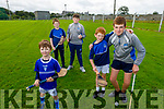 St Brendans juvenile players get ready for hurling as the St Brendans Hurling Club prepare for the re opening of the field in Ardfert.  <br /> Front right: Jamie and Jack Moriarty.<br /> Back L to r: Fionn McCarthy, Sean and David O'Connor.
