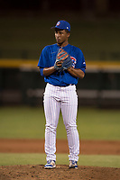 AZL Cubs 1 relief pitcher Jonathan Bruzual (37) prepares to deliver a pitch during an Arizona League game against the AZL Diamondbacks at Sloan Park on June 18, 2018 in Mesa, Arizona. AZL Diamondbacks defeated AZL Cubs 1 7-0. (Zachary Lucy/Four Seam Images)