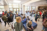 Busy day in Coulter Hall.  Photo by Kevin Bain/University Communications Photography
