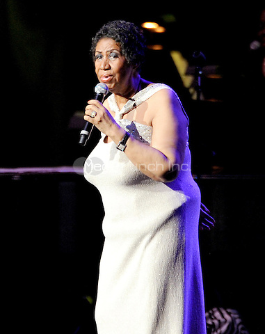 """New York, NY- June 15: """"The Queen Of Soul"""" Aretha Franklin performs at Radio City Music Hall on June 15, 2014  in New York City. Credit: John Palmer/MediaPunch"""