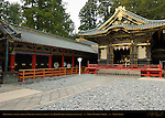 Shinyosha Shed for Mikoshi Sacred Spirit Palanquins Tozai Kairo Roofed Colonnade Honsha Central Shrine Nikko Toshogu Shrine Nikko Japan