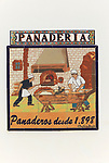 Panaderia bakery ceramic tiles picture village of Montejaque, Serrania de Ronda, Malaga province, Spain