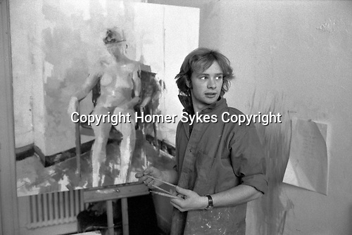 Slade school of art  London. Life class 1977.
