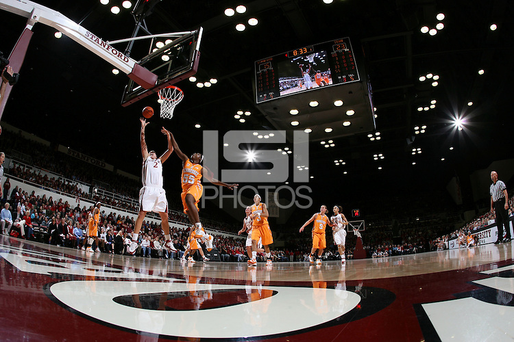 22 December 2007: Jayne Appel during Stanford's 73-69 win over Tennessee at Maples Pavilion in Stanford, CA.