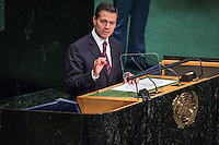 NEW YORK, NY - SEPTEMBER 20: President of Mexico, Enrique Pena Nieto waits to address the United Nations General Assembly on September 20, 2016 in New York City. Heads of state gathered to address global issues at the 71st annual meeting at the UN headquarters in New York. VIEWpress/Maite H. Mateo