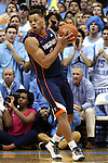02 February 2015: Virginia's Justin Anderson. The University of North Carolina Tar Heels played the University of Virginia Cavaliers in an NCAA Division I Men's basketball game at the Dean E. Smith Center in Chapel Hill, North Carolina. Virginia won the game 75-64.