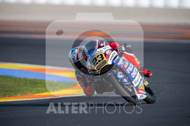 VALENCIA, SPAIN - NOVEMBER 11: Niccolo Antonelli during Valencia MotoGP 2016 at Ricardo Tormo Circuit on November 11, 2016 in Valencia, Spain