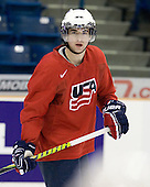 Kyle Palmieri (USA - 23) - Team USA practices the morning of Saturday, December 26, 2009, at the Credit Union Centre in Saskatoon, Saskatchewan, during the 2010 World Juniors tournament.