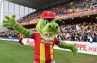20191221 - LENS , FRANCE : illustration picture shows the KIDIBUL mascotte pictured during the soccer match between Racing Club de LENS and Niort , on the 19 th matchday in the French Ligue 2 at the Stade Bollaert Delelis stadium , Lens . Saturday 21 December 2019. PHOTO DIRK VUYLSTEKE   SPORTPIX.BE